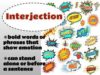 Parts of Speech Bright Chevron Grammar Posters