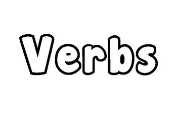 Parts of Speech Bubble Letters Activity