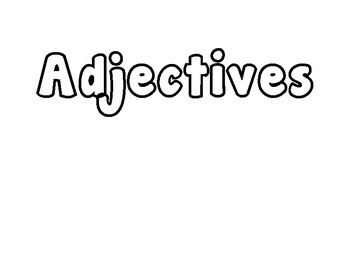 Parts of Speech Bubble Letters Activity