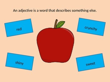 Parts of Speech Building Block Adjective Intro