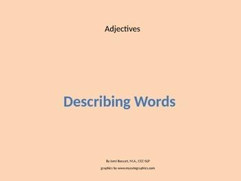 Parts of Speech Building Block Adjective Intro