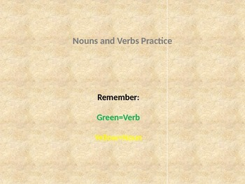 Parts of Speech Building Blocks Noun Verb Practice-Closed Set