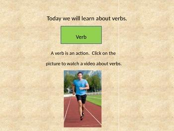 Parts of Speech Building Blocks Verb Intro