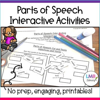 Parts of Speech Activity Bundle