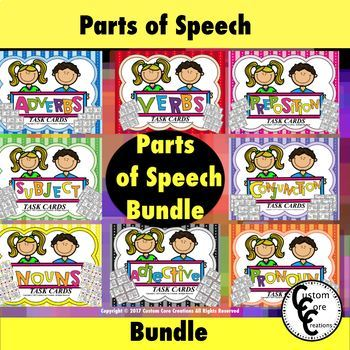 Parts of Speech Bundle Back to School