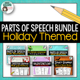 Parts of Speech Bundle - Holiday Themed Review Activites