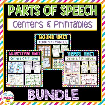 Parts of Speech Bundle (Nouns, Adjectives, Verbs)