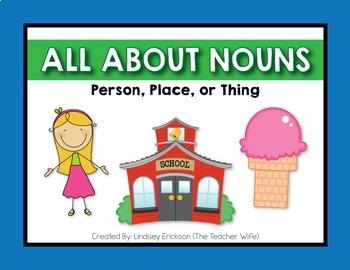 Parts of Speech Bundle! {Nouns, Verbs, & Adjectives}