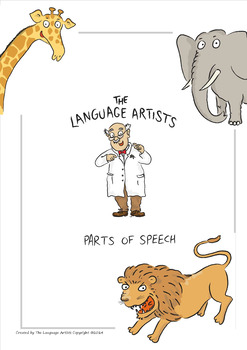 Parts of Speech Bundle - Powerpoint, Worksheets, Flipbook, Posters, Games