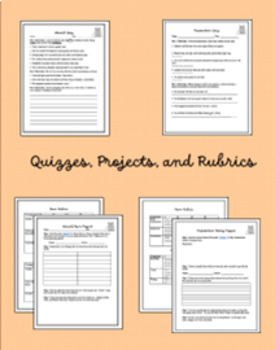 Parts of Speech Bundle (Worksheets, Quizzes, and Projects)