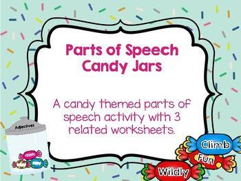 Parts of Speech Candy Jars Center