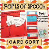 Parts of Speech Card Sort: Verbs, Prepositions, Conjunctio