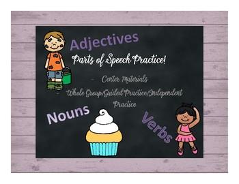 Parts of Speech Center/Practice Pack!