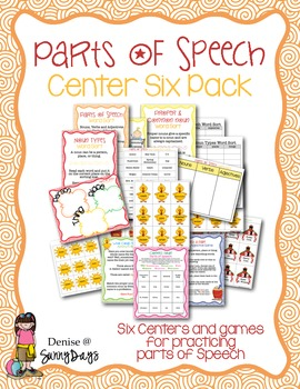 Parts of Speech: Center Six-Pack
