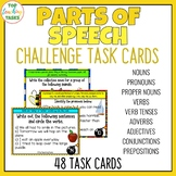 Parts of Speech Grammar Challenge Task Cards US and Britis