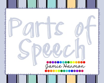 Parts of Speech Chart Set