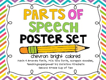 Parts of Speech Chevron Posters