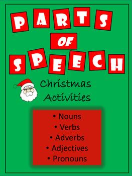 Parts of Speech - Christmas Activities