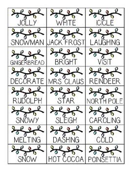 Parts of Speech Christmas Activity