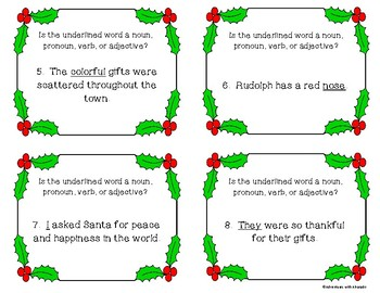 Parts of Speech Christmas Scoot