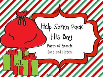 Parts of Speech Christmas Sort