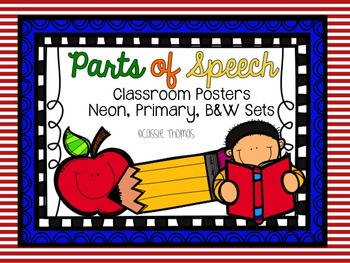 Parts of Speech Classroom Posters {4 designs}