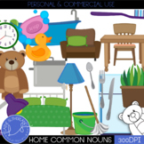 Parts of Speech Clip Art - Common nouns in the home
