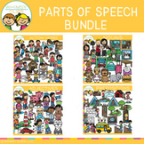 Parts of Speech Clip Art GROWING Bundle