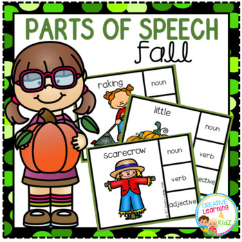 Parts of Speech Clip Cards: Fall