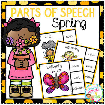 Parts of Speech Clip Cards: Spring