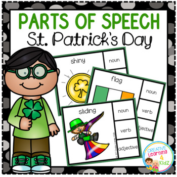 Parts of Speech Clip Cards: St. Patrick's Day