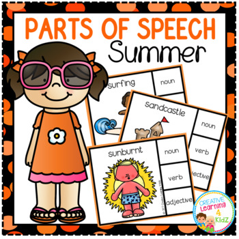 Parts of Speech Clip Cards: Summer