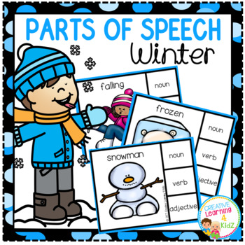 Parts of Speech Clip Cards: Winter
