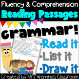 Parts of Speech Close Reading Passages (Grammar)