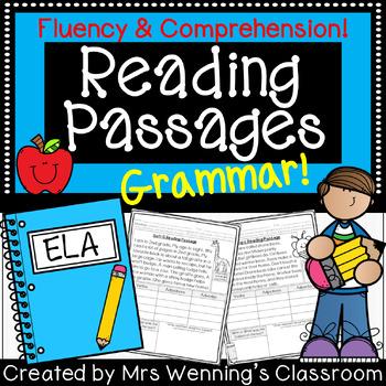 Parts of Speech Close Reading Passages (Grammar)