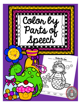 Parts of Speech - Color By Code (number) UPDATE