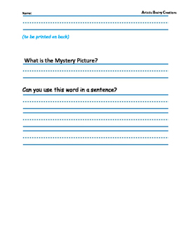 Parts of Speech: Color a Mystery Picture 3