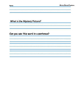 Parts of Speech: Color a Mystery Picture 4