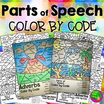 Parts of Speech Color by Code