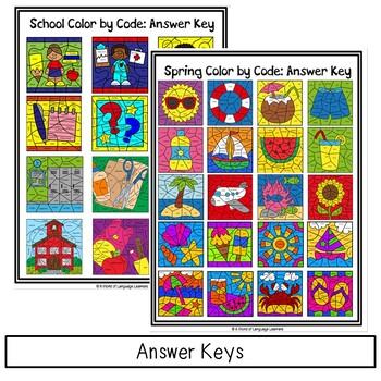 Parts of Speech Color by Code Bundle
