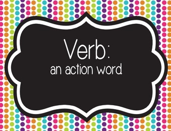 Parts of Speech {Colorful & Fun}