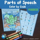 Parts of Speech Coloring FREE