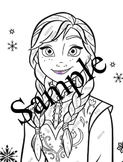 Parts of Speech Coloring Page Frozen Princess Anna PDF