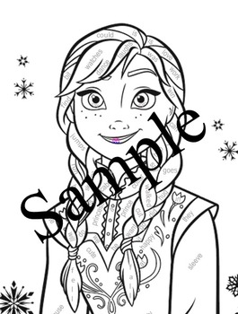 Parts of Speech Coloring Page Frozen Princess Anna PDF