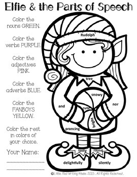 Parts of Speech Coloring Pages