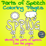 Parts of Speech Spring Coloring Pages