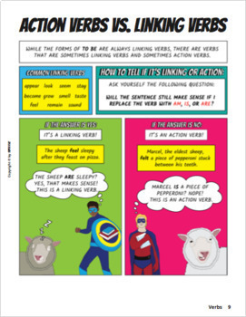 Parts of Speech Comic Book and Workbook