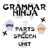 Parts of Speech Complete Unit - Lessons, Assessments, Keys - Grammar Ninja