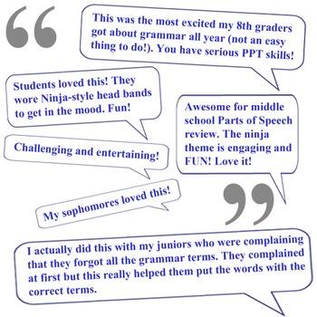 Parts of Speech Complete Unit - Lessons, Assessments, Keys - Grammar Ninja