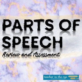 Parts of Speech Complete Worksheets and Quizzes--Grade 7 {CCSS}